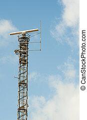ένα , ραδιοεντοπισμός κάστρο , μεταχειρισμένος , για , αεροπορία , αγοραπωλησία διακόπτες