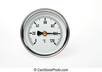 ένα , σημείο βρασμού , θερμοκρασία , επάνω , thermometer.