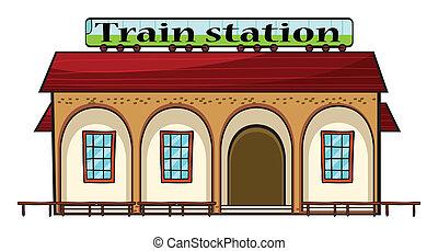 ένα , σιδηροδρομικόs σταθμόs