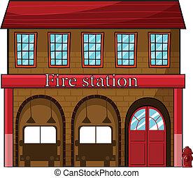 ένα , σταθμός πυροσβεστικής