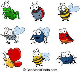 έντομα , θέτω , γελοιογραφία