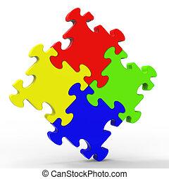 ένωση , γρίφος , τετράγωνο , εκδήλωση , με πολλά χρώματα