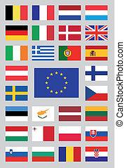 ένωση , σημαίες , ευρωπαϊκός
