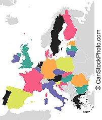 ένωση , χάρτηs , γραφικός , ευρωπαϊκός