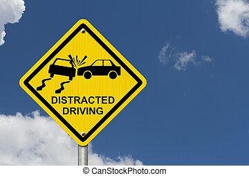 έξαλλος , όχι , οδήγηση , σήμα