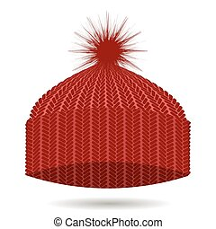 έπλεξα , cap., καπέλο , χειμώναs , κόκκινο