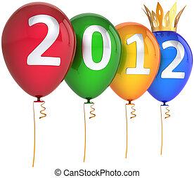 έτος , καινούργιος , μπαλόνι , βασιλικός , 2012