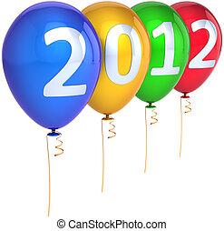 έτος , καινούργιος , πάρτυ , ευτυχισμένος , μπαλόνι , 2012