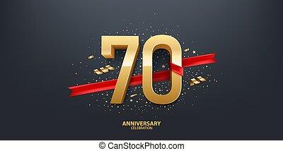 έτος , 70th, φόντο , επέτειος