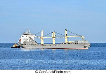 έχω όγκο ή μέγεθος , ρυμουλκό , βοηθώ , πλοίο , φορτίο