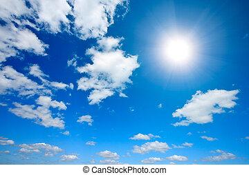 ήλιοs , αγαθός θαμπάδα , ουρανόs