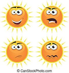 ήλιοs , γελοιογραφία , ισχυρό αίσθημα , απεικόνιση