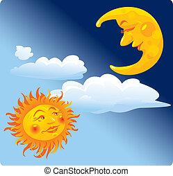 ήλιοs , και , φεγγάρι