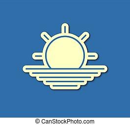 ήλιοs , καλός , σύμβολο , βέργα