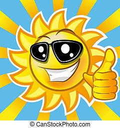 ήλιοs , χαμογελαστά