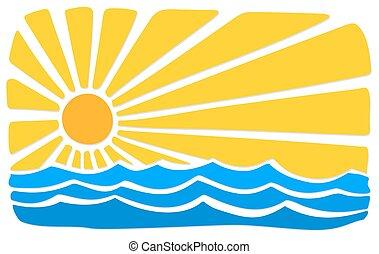 ήλιοs , sea.