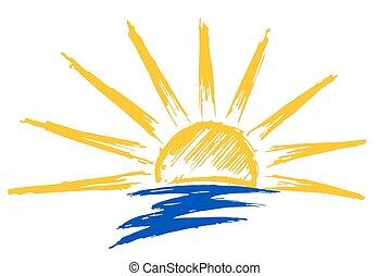 ήλιοs , sea., ζωγραφική