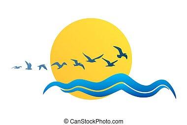 ήλιοs , seagulls., ο ενσαρκώμενος λόγος του θεού
