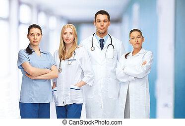 ή , γιατροί , σύνολο , νέος , ζεύγος ζώων