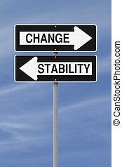 ή , σταθερότης , αλλαγή