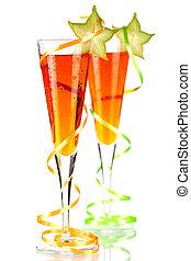 ίππος με ψαλιδισμένη ουρά , πορτοκάλι , carambola , αλκοόλ , δυο