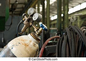 αέριο κύλινδρος , και , μανόμετρο