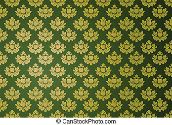 αίγλη , πρότυπο , πράσινο , χρυσός
