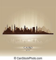 αίγυπτος , κάιρο , γραμμή ορίζοντα απεικονίζω σε σιλουέτα , πόλη