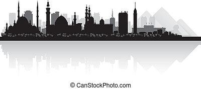 αίγυπτος , κάιρο , γραμμή ορίζοντα , μικροβιοφορέας , πόλη , περίγραμμα