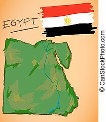 αίγυπτος , χάρτηs , εθνικός , μικροβιοφορέας , σημαία