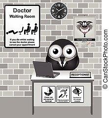 αίθουσα αναμονής , γιατρός