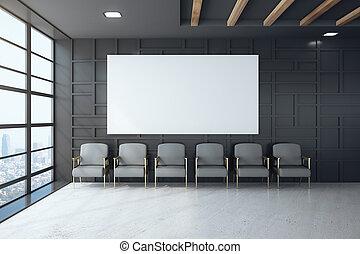 αίθουσα αναμονής , μαύρο , εσωτερικός