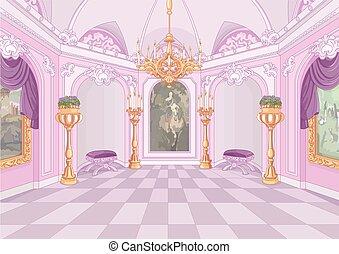 αίθουσα , παλάτι