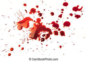αίμα , αλλοίωση χρωματισμού