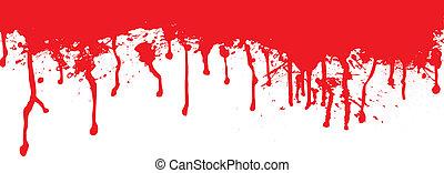 αίμα , πλατύ τεμάχιον σανίδος , στάζω