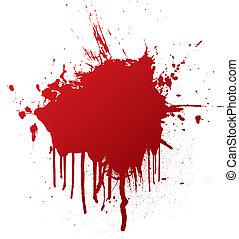 αίμα , πλατύ τεμάχιον σανίδος