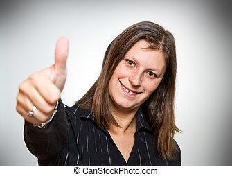 αίσιος γυναίκα , πάνω , αντίστοιχος δάκτυλος ζώου
