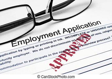 αίτηση , απασχόληση