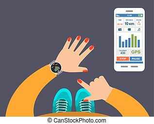 αίτηση , ιχνηλάτης , wrist., smartwatch, καταλληλότητα