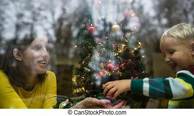 αίτιο και γιος , βάφω διακοπές χριστουγέννων αγχόνη