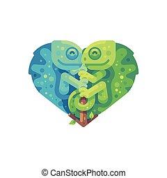 αγάπη αναπτύσσομαι , άστατος , πράσινο , βάσκας