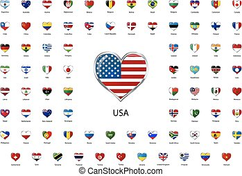 αγάπη αναπτύσσομαι , λείος , απεικόνιση , σημαίες , από , κόσμοs , ανώτατος άρχοντας , αναστάτωση