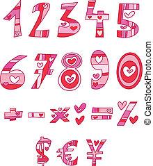 αγάπη , αριθμοί