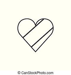 αγάπη γενικές γραμμές , διαμέρισμα , σημαία , σχήμα , κογκό , σχεδιάζω , δημοκρατία , εικόνα , μαύρο