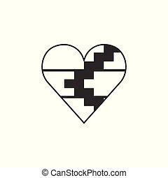 αγάπη γενικές γραμμές , διαμέρισμα , σημαία , σχήμα , μαύρο , artsakh, σχεδιάζω , δημοκρατία , εικόνα