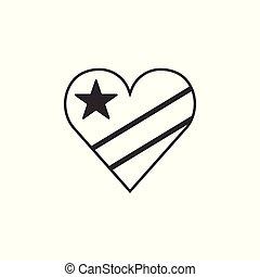 αγάπη γενικές γραμμές , εικόνα , διαμέρισμα , σημαία , σχήμα , κογκό , σχεδιάζω , δημοκρατία , δημοκρατικός , μαύρο