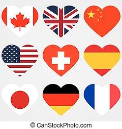 αγάπη , εθνική σημαία