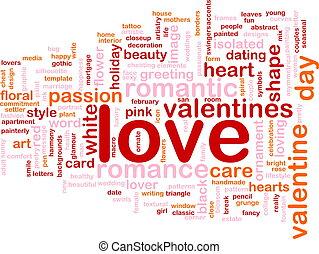 αγάπη , λέξη , σύνεφο