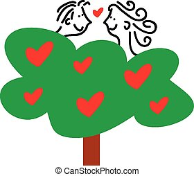 αγάπη , μέσα , δέντρο