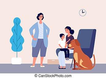 αγάπη μου , σωματικός , therapy., ζώο , κατοικίδιο ζώο , παιδιά , therapists , μητέρα , χειριζόμενος , εικόνα , παιδί , rehabilitation., μικροβιοφορέας , σκύλοs